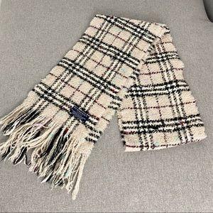 Burberry Nova Check Merino Wool Fringe Scarf